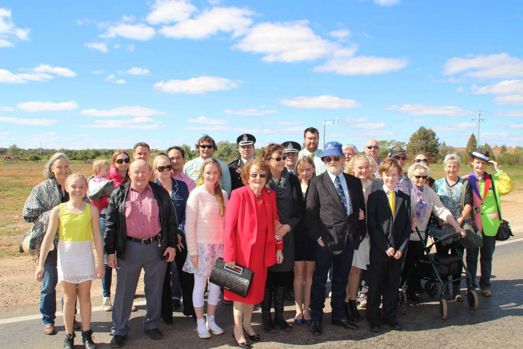 Family and friends of Daniel 'Howie' Howard along with members of the official party at the opening celebrations of Howie's Drive on Sunday morning.