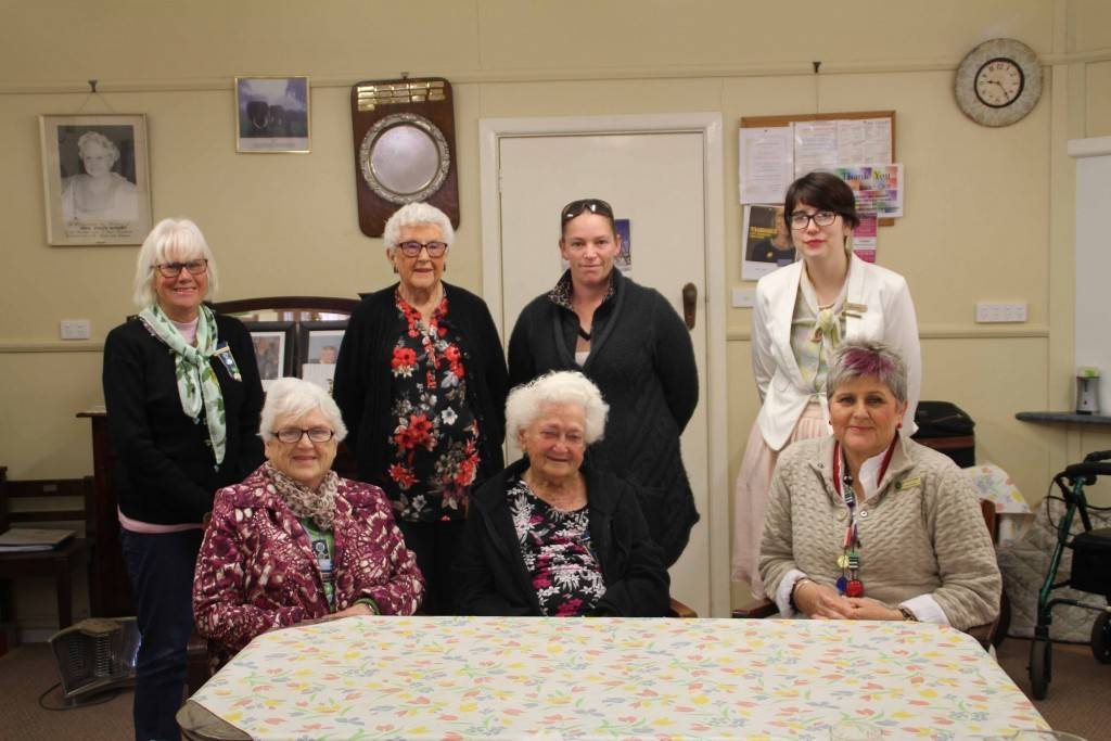 Country Women's Association (CWA) members Sue Russ, Ruth Hando, Mary Madden, Dot Blacker OAM, Reta Ohlsen and Brooke Seaman welcomed NSW state president Tanya Cameron (seated at right) to Cobar with a morning tea at the CWA Hall last Wednesday.