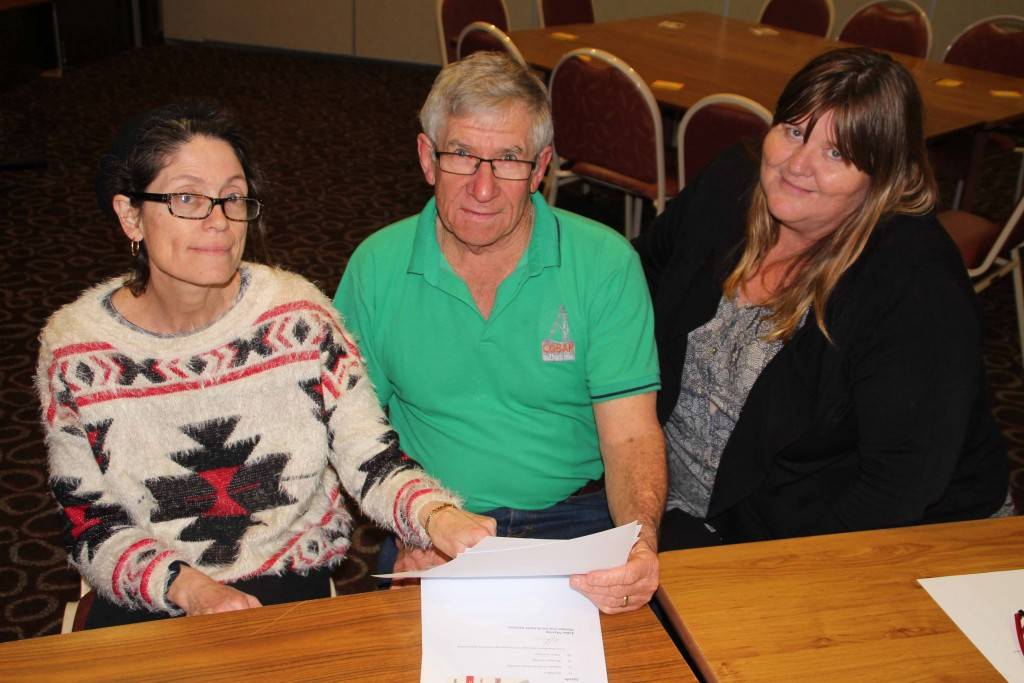 Cobar Shire Council staff Kaye Stingemore, John Collins and Narelle Kriz are all involved in planning activities for this year's Festival of the Miner's Ghost.