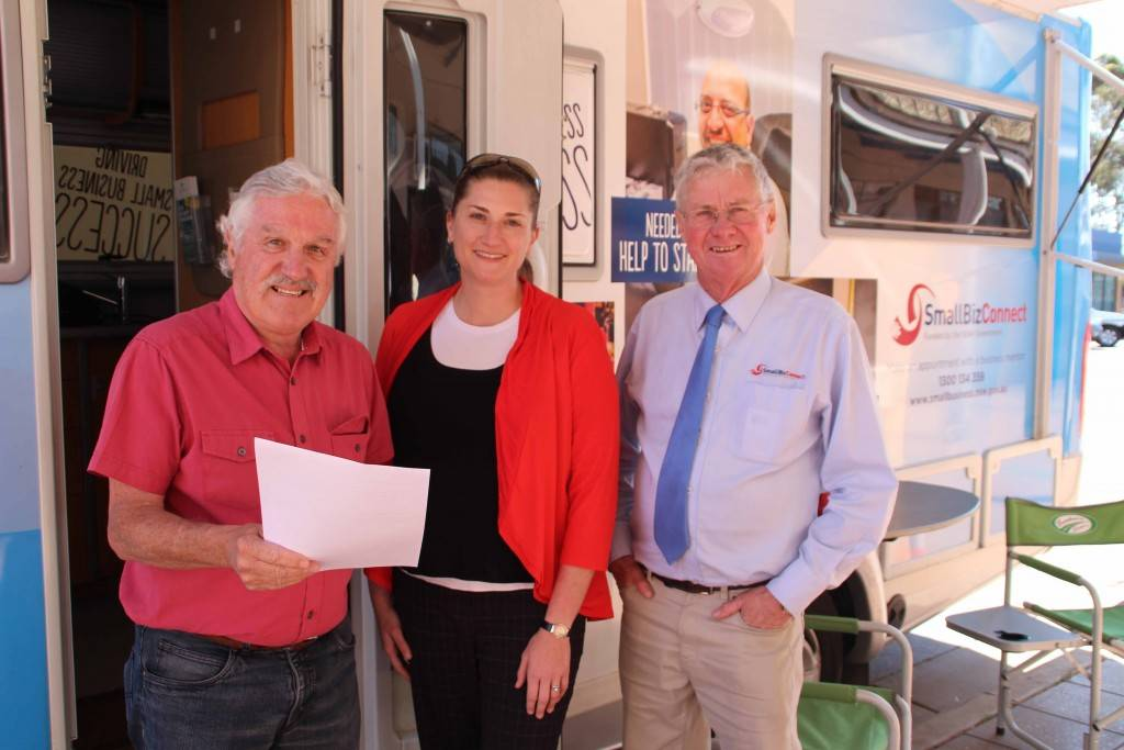 Neil Irlam and Peter Croft spoke with Angela Webb from AWI Consulting when the Small Biz Bus was in town on Thursday.