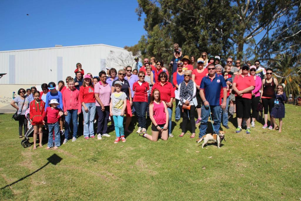 The Cobar community embraced the national Walk4William initiative on Saturday with approximately 80 people turning up to support the event. Participants wore red and blue to represent William's favourite Spiderman suit.