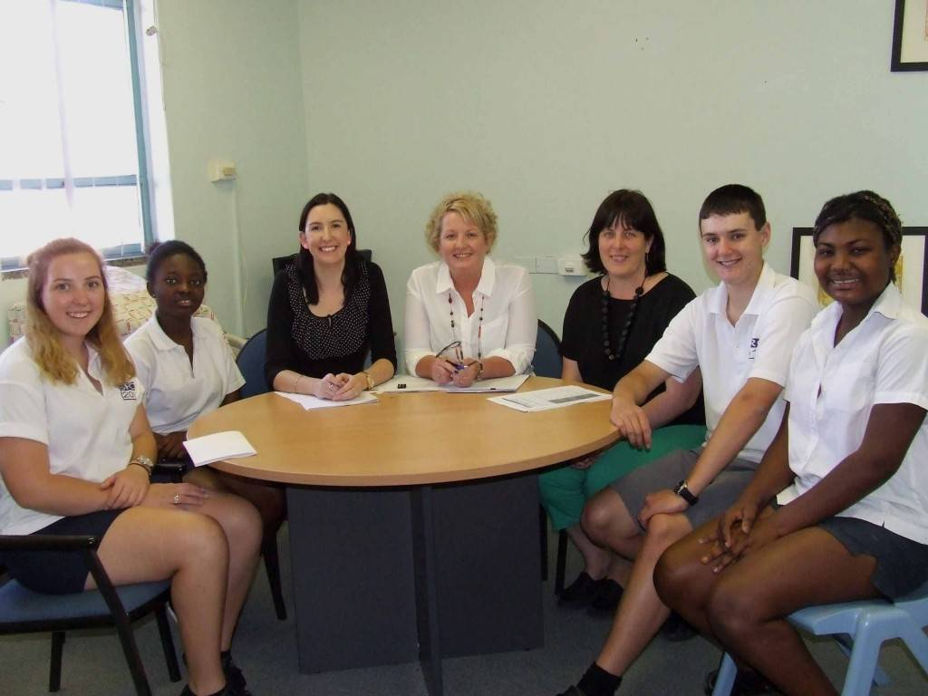 Members of the Cobar Business Association have been working with Cobar High School students to ensure they are work ready.  Year 11 students were invited to apply for 'mock jobs' and attend 'mock interviews' as a taste of what they can expect when they head out into the working world. Students were given information and tips about what to expect in an interview and were also shown how they could improve their  resumes and letters of application to increase their chances of getting an interview. All of the students who participated in the project said it had been very worthwhile. Pictured are students Gabbi Lennon, Joana Awuku, Michelle Maidens (HR Officer from Cobar Shire Council), Sharon Harland (Cobar Business Association president), Megan Nicholson (the school's careers advisor) and students Bryan Mitchell and  Jennifer Awuku at mock interviews last week. ▪ Photo contributed