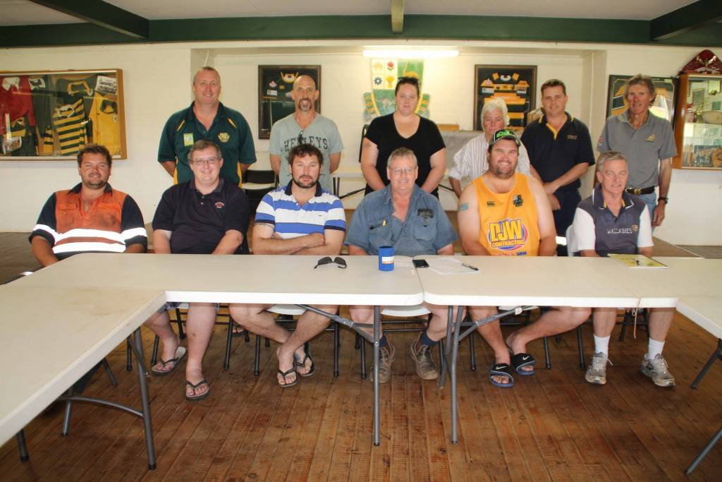 The Cobar Camels Rugby Club held their annual general meeting on Sunday with former player Mal Harris (at centre) elected as the club's new president.