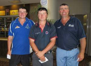 NSW Sand Green Championships winning team, Mark, Alec and Stewart Fraser. ▪ Contributed