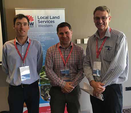 Presenters at the Rangelands Carbon Conference last Wednesday, Paul Ryan from the Department of the Environment, Sebastien Kilborn from the Clean Energy Regulator and John Gavin from Remarkable NRM. ▪ Photo Contributed