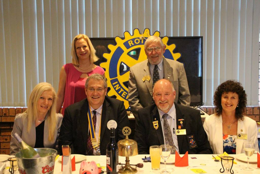 The Cobar Rotary Club celebrated their 50th birthday on Saturday night at the Cobar Bowling & Golf Club. The official guests table included guests Vanja Turk and Irena Vrtaric, club president Gary Woodman, District Governor Adrian Roach, District Governor Elect Stephen Jackson and visitor Christine Roach.