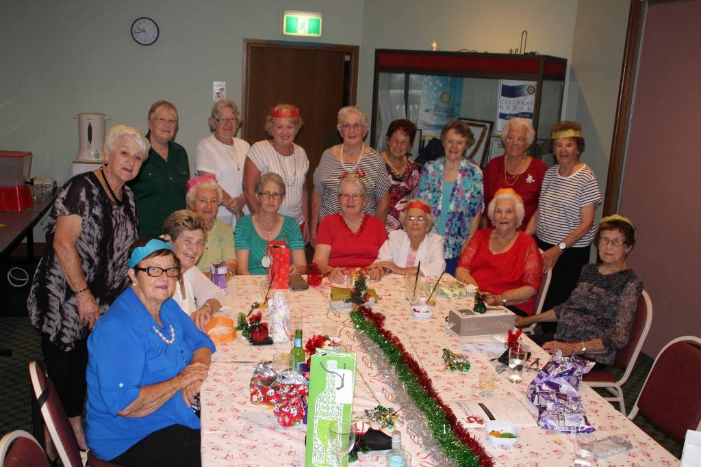 Members and friends of the Cobar Hospital Auxiliary at their Christmas party on Friday night at the Cobar Bowling & Golf Club.