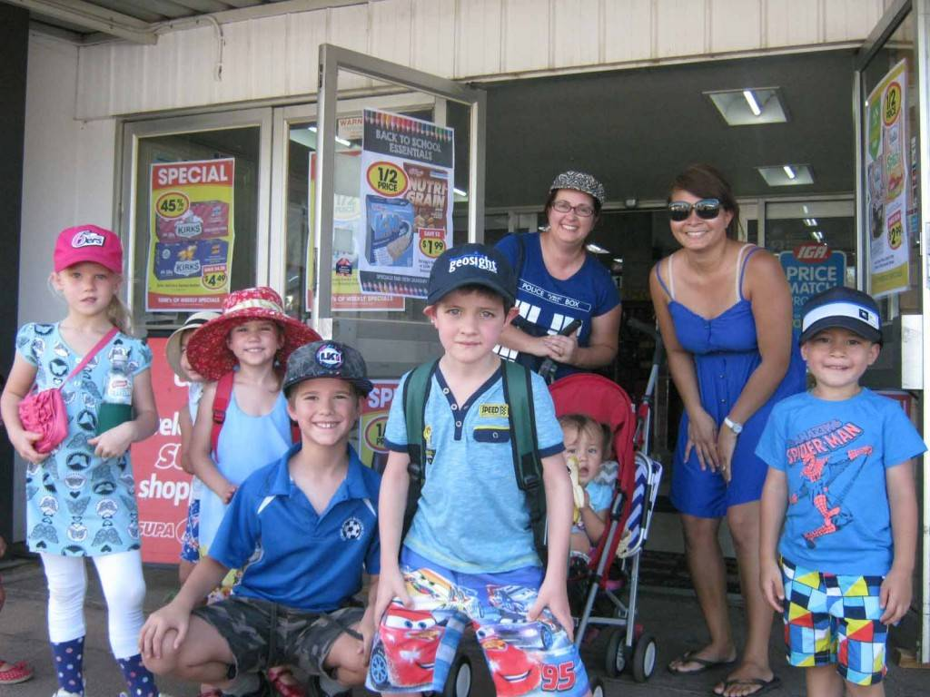 A group of local parents organised an 'Amazing Race' activity for their children around the central business district last Wednesday. One of the clues this team got led them to Burgess SUPA IGA to buy picnic supplies. ▪ Photo contributed