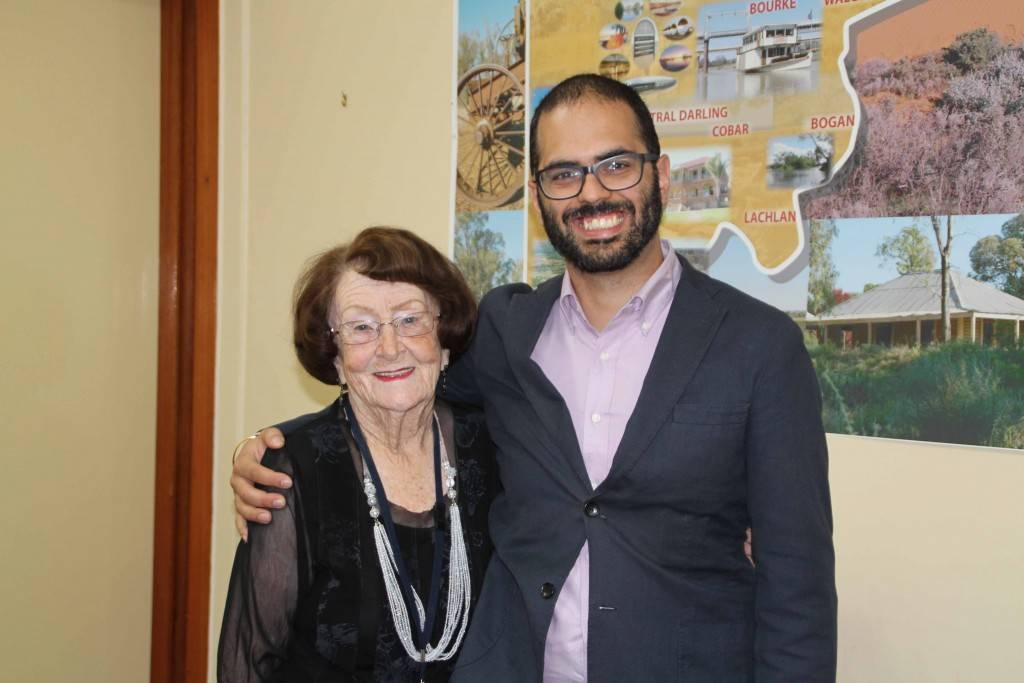 Member for the NSW Legislative Council Daniel Mookhey met with mayor Lilliane Brady as part of his visit to Cobar last Tuesday.