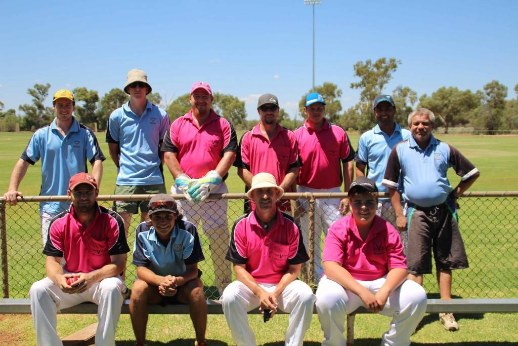 Cobar Men's Cricket Golf Club team won their first McGrath Foundation Pink Stumps 50 overs game against the Colts on Saturday at Ward Oval.