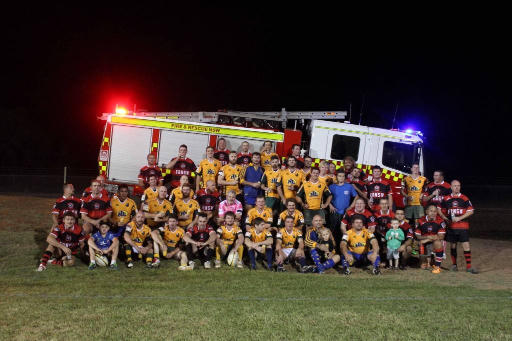 Cobar came out in force on Saturday night to join Fire & Rescue NSW representatives from across the state in a special rugby union event at Ailsa Fitzsimmons Memorial Oval. Past and current Camels, Old Boys, firefighters and players from other football codes took to the field for two games played for bragging rights and the Howie Cup, with the Firies taking out the main game (with assistance from some locals). The evening was in memory of former Cobar firefighter Daniel 'Howie' Howard, who was killed in the line of duty while fighting the fire which destroyed the New Occidental Hotel in 2014