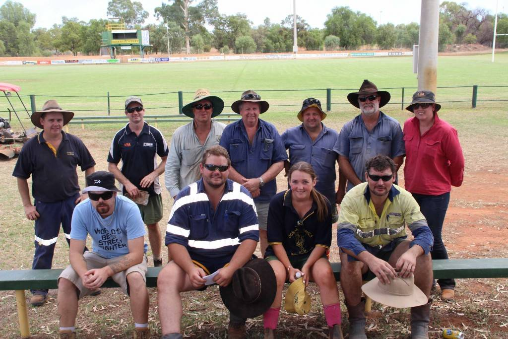 The Ailsa Fitzsimmons Memorial Oval was a busy place on Saturday with union club members and friends working hard to prepare the grounds for Howie's Memorial Day next weekend.