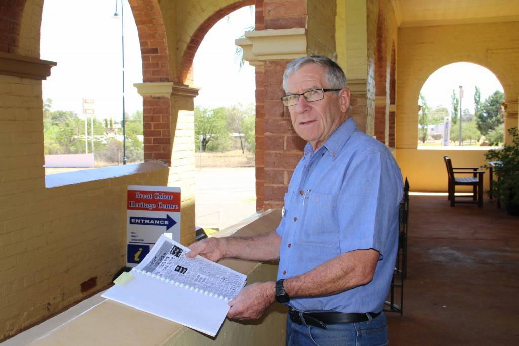 Local writer John Collins is in the process of writing his new book on the history of rugby league in Cobar.
