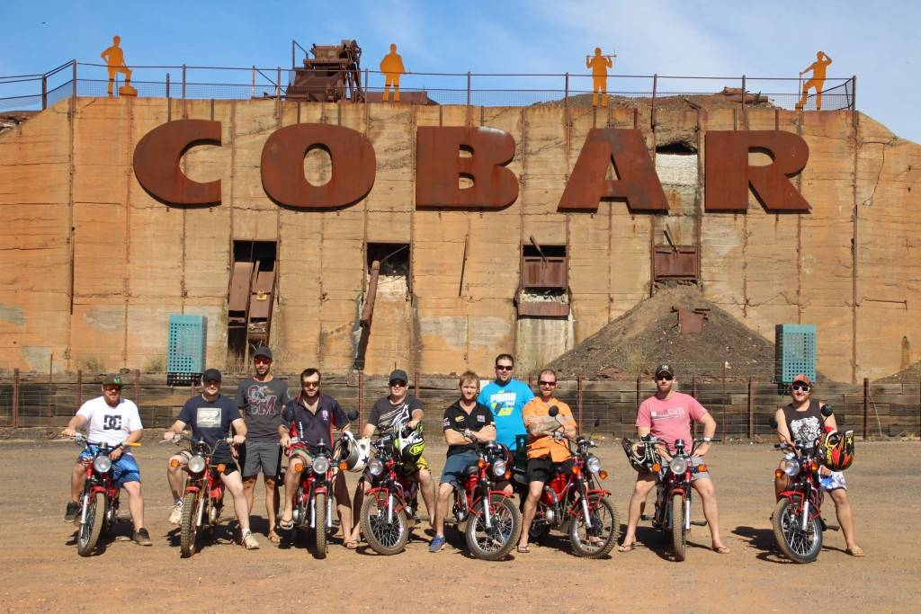"CSA Reggie's Mobile Maintenance Crew are embarking on a 1,400km ride from Cobar to Cameron's Corner and back, stopping at pubs along the way to ""shake their donation tins"" in the hope of raising $5,000 for the Miracle Babies foundation."