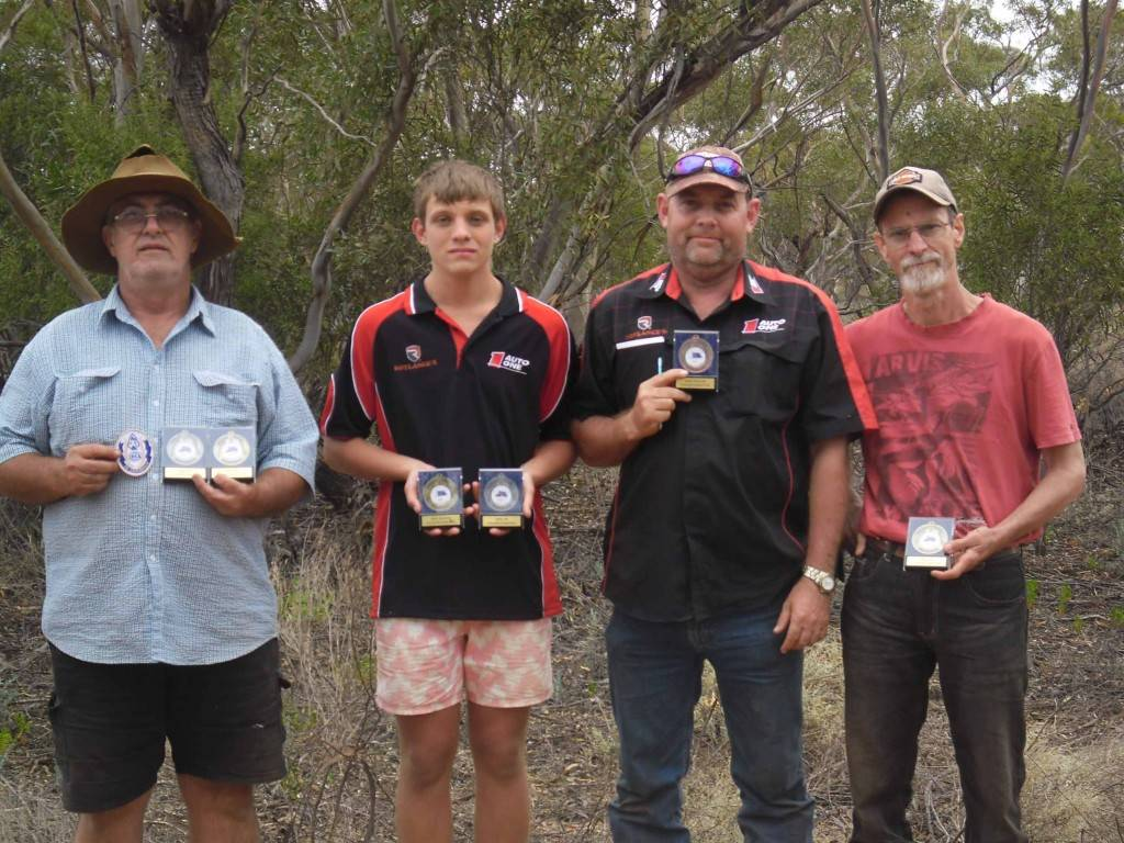 Cobar Bowmen club members Peter Rogers, James Mitchell, Jason Mitchell and Dick Tulloh after competing successfully at the National Australian Bowhunters Association championships recently in Mildura.