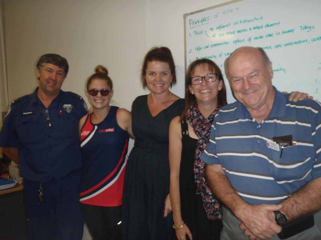 The Cobar Health Council met earlier this month and welcomed three new members to their board, Niamh Urquhart, Renee Matheson and Stephanie McDonnell. Niamh (second from left) and  Renee (at centre) are pictured with existing members Stephen Dutton, Mary Urquhart and Gordon Hill. ▪ Photo contributed