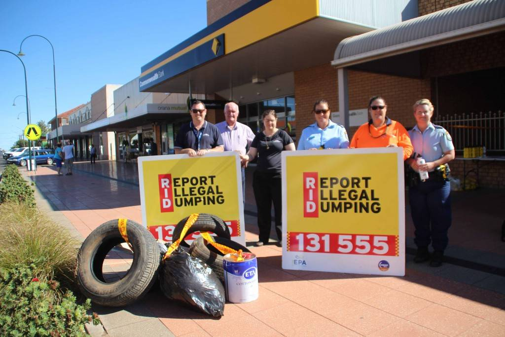 Cobar Shire Council has received State Government funding under the Waste Less, Recycle More initiative to identify illegal dumping hotspots in the shire. The program was launched in Marshall Street on Monday.