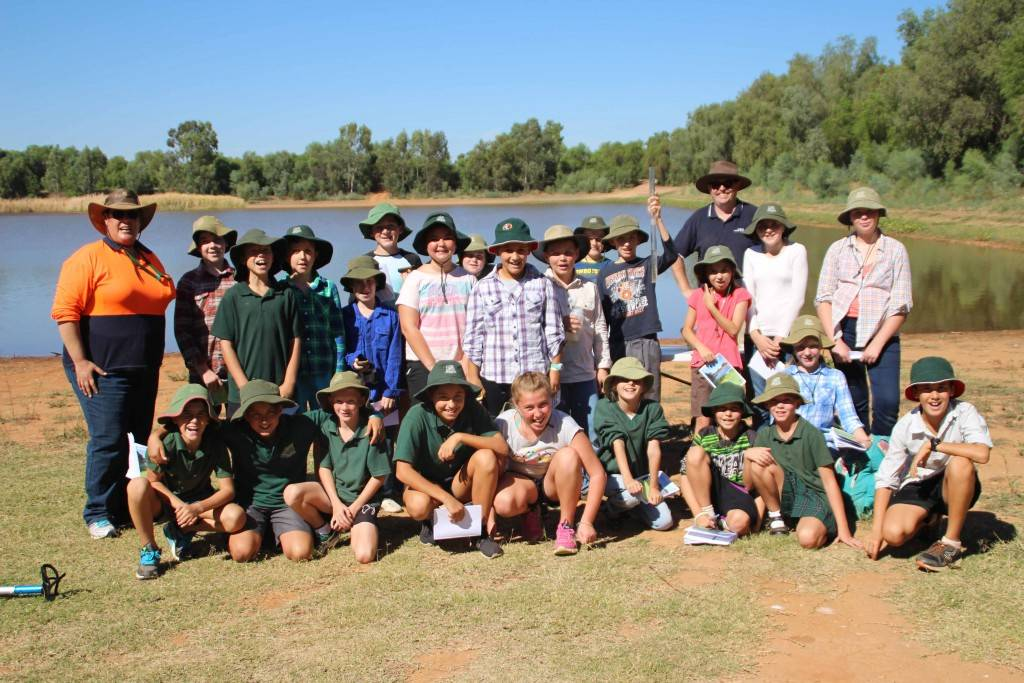 Years 5 and 6 students from Cobar Public School took part in water testing, mapping and noxious weeds identification exercises at a field day at the Newey yesterday coordinated by staff from Cobar Shire Council.
