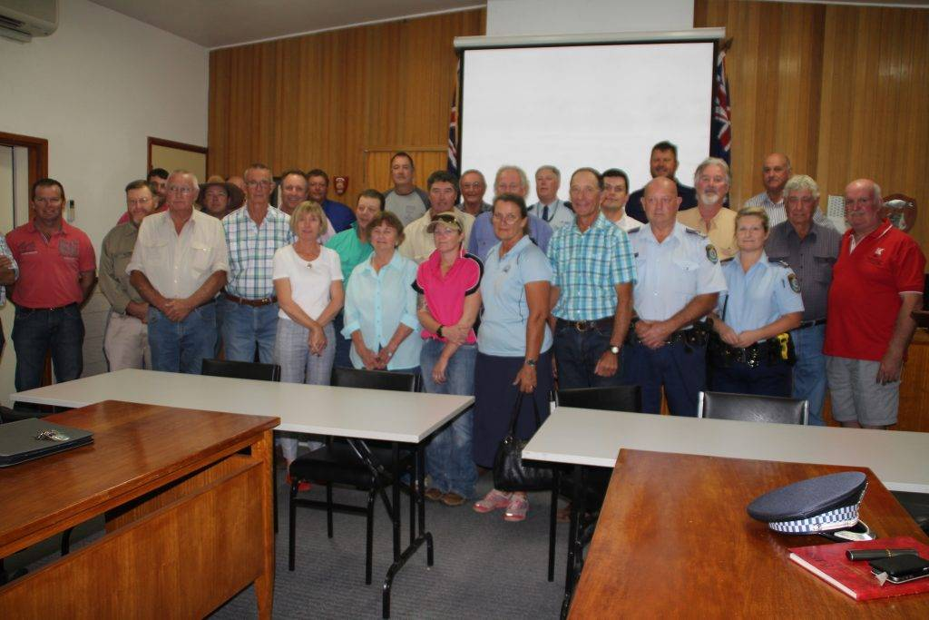A large group of local landholders and local police met with State Member for Barwon Kevin Humphries and former NSW Police Assistant Commissioner Stephen Bradshaw last Tuesday night at the council chambers to discuss rural crime.