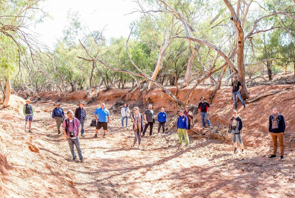 Inspiration for the music, dance and visual art for the Moorambilla 2016 program has been taken by the artists from a recent cultural and artistic immersion workshop at Mt Grenfell. ▪ Photo courtesy of Noni Carroll