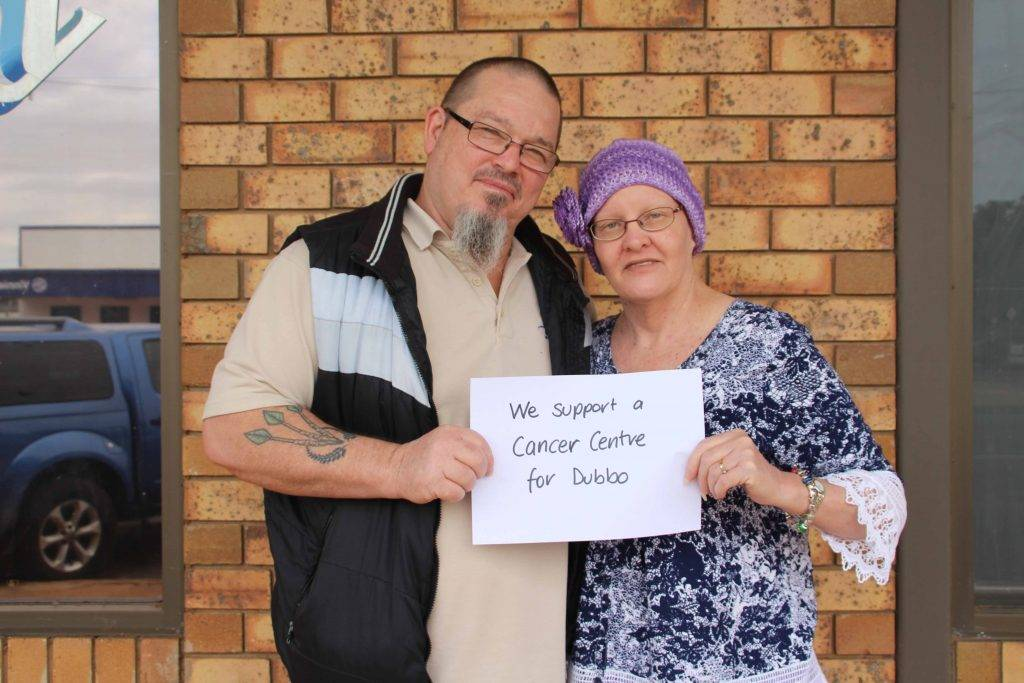 Locals Shane and Karen Haddy have thrown their support behind a social media campaign to get a Cancer Centre in Dubbo.