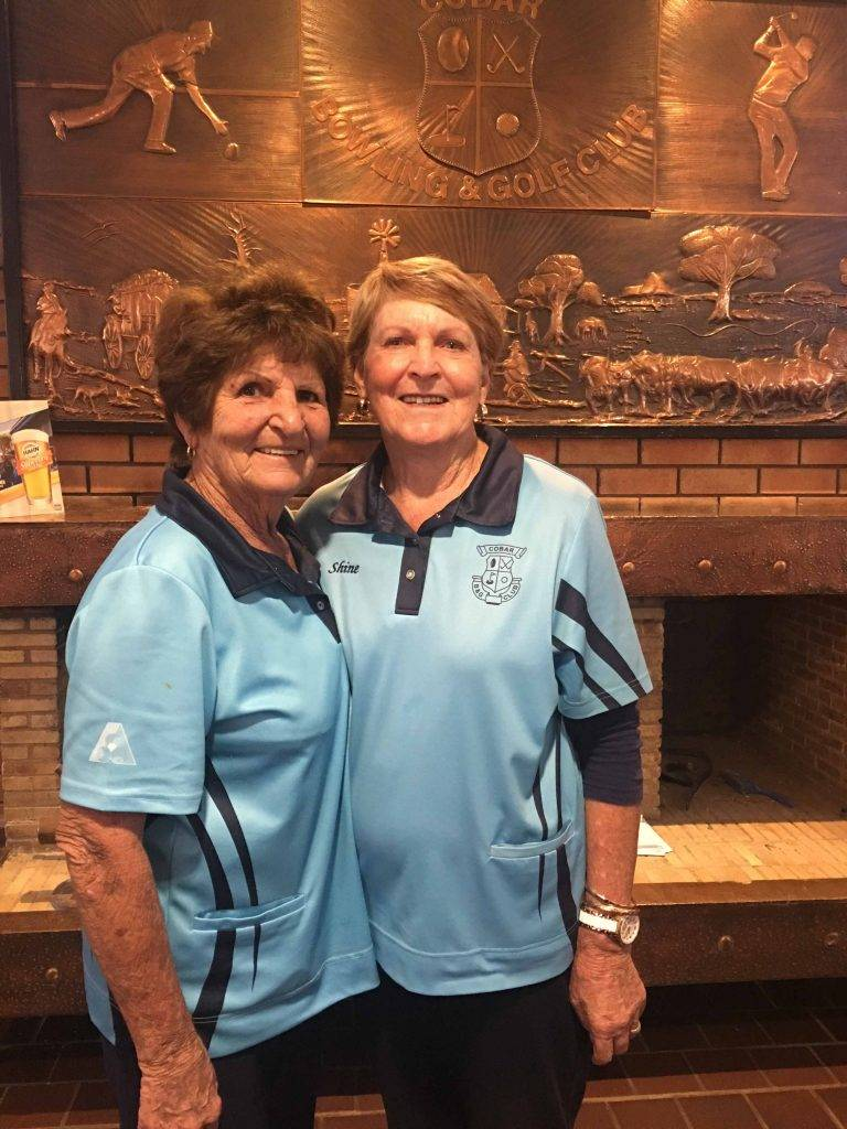 Ev Hyde and Shine McIver won the  women's bowls Pairs Championships last  Wednesday at the Golfie. ▪ Contributed