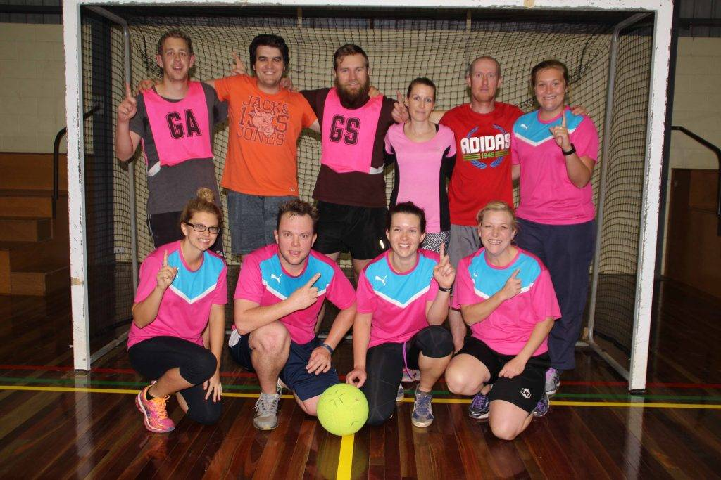 The highly underrated Hotshots team of Mark Rakecki, Nicola Mathews, Matthew  Klopper, Clint Fennamore, Chris Rollo, Lyndsay Klopper, Bonnie Buckman, Jade  Buckman, Kristie Behan and Sam Dixon won the indoor soccer grand final 1-0 against Wii Not Fit last Wednesday night at the youth centre .