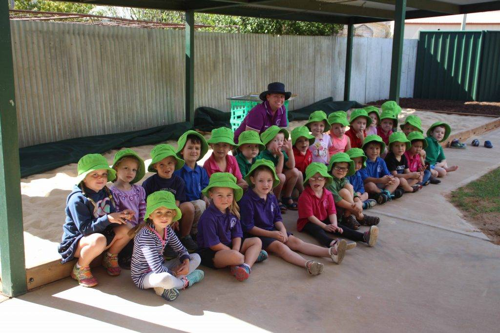 Cobar Preschool's new director Kristi Martin is pictured above with the Thursday group of students. The school also has a new committee which was elected at a recent crisis meeting.
