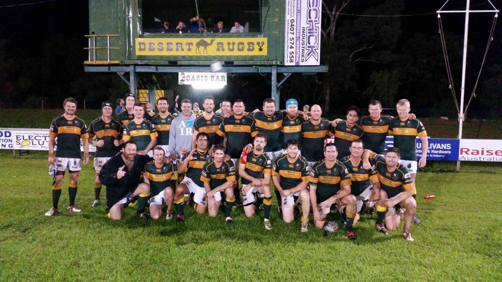 The Cobar Camels rugby union team after their 17-10 win over Bourke on Friday night. ▪ Photo contributed