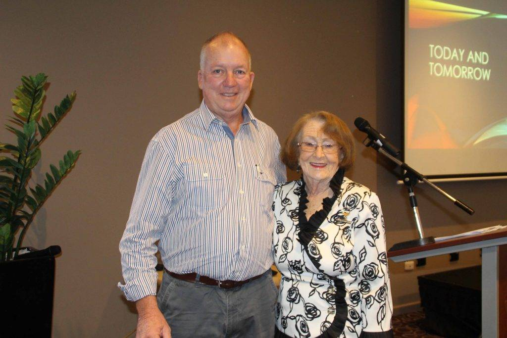 CentaCare Wilcannia-Forbes chief executive officer Phil Lawler with Cobar mayor  Lilliane Brady, who officially opened the organisation's conference at Cobar Bowling & Golf Club on Saturday.