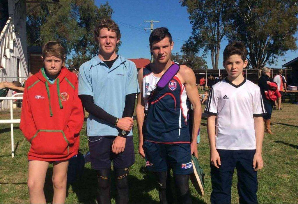CHS athletes James Matchett, Thomas Jones, Nick Buckman and Conor McMullen  competed at Regional Cross Country last week in Geurie. ▪ Photo contributed