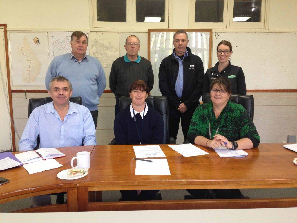 The Project Reference Group (PRG) for Cobar's Economic Study and Action Plan held their first meeting last Wednesday at the council chambers. In attendance were Chris Dennis, Kym Miller, Angela Shepherd, Cr Peter Abbott, Brien Obray and Ellie Russell with consultant Megan Dixon from Seed Business Solutions.
