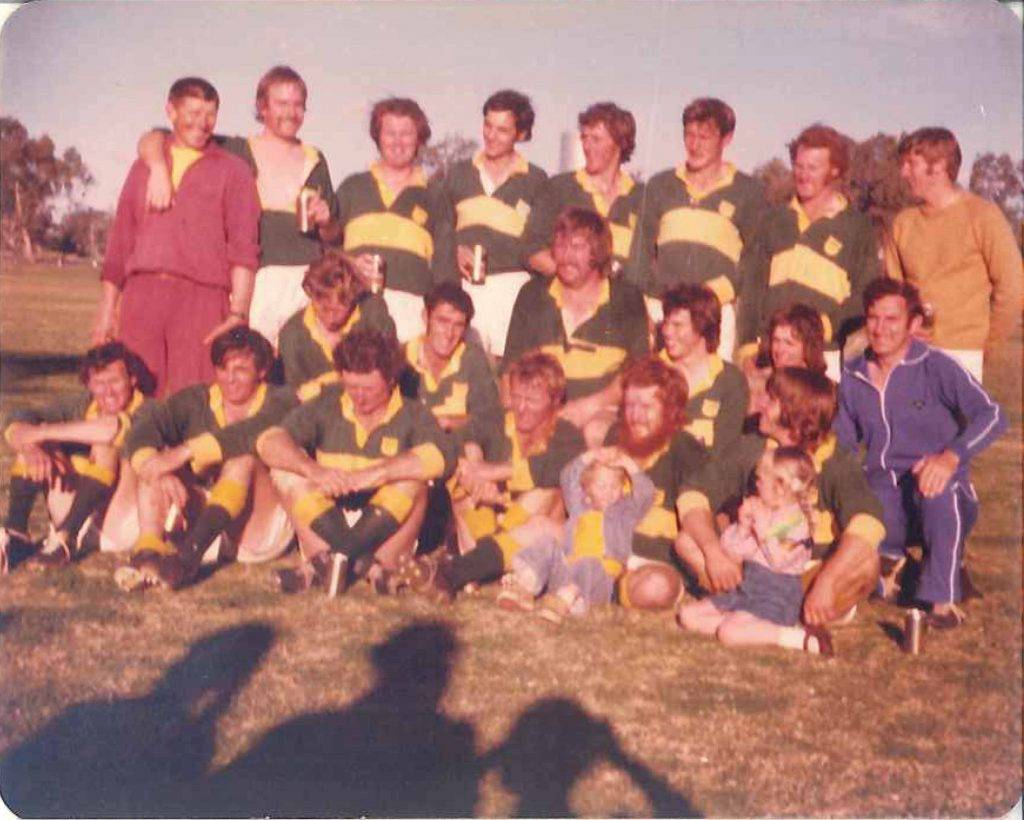 Cobar's 1976 Western Plains Rugby premiership winning team. ▪ Photo contributed