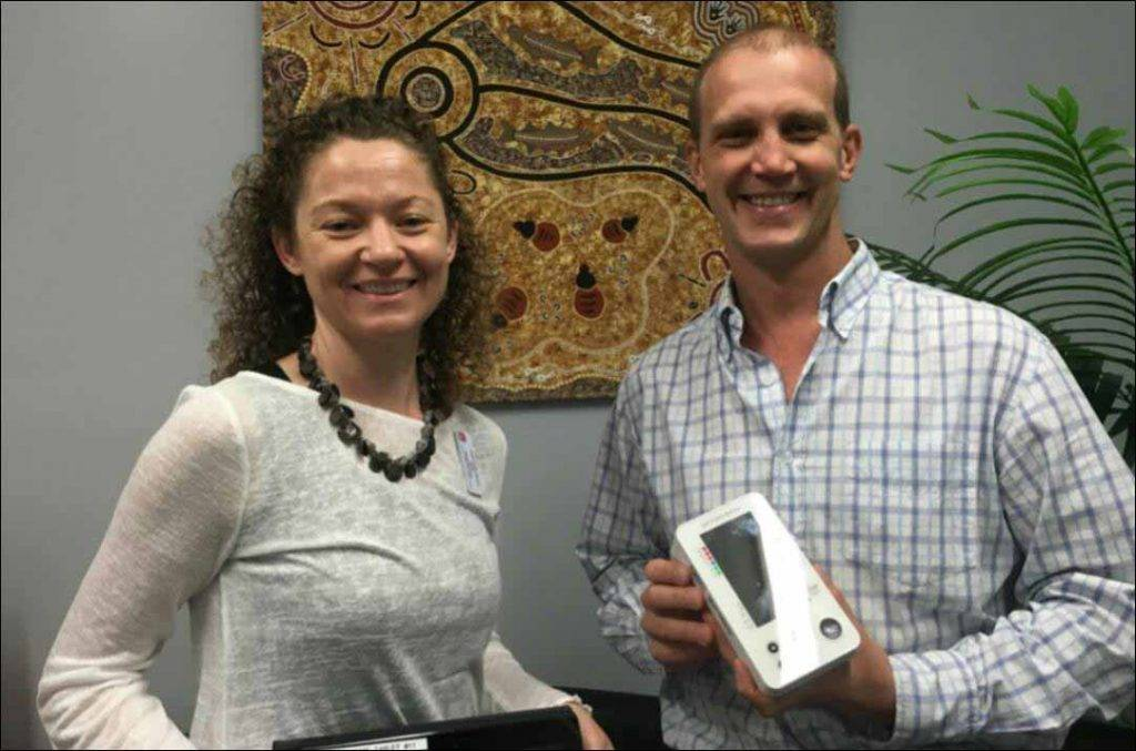 Integrated Care project lead Genie McMullen and Dr Deon Heyns are pleased with the success of a trial of tele-health monitoring in Cobar. ▪ Photo contributed