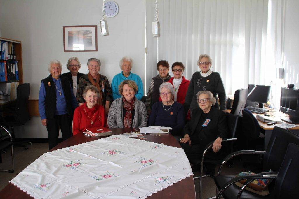 The Cobar Hospital Auxiliary held their annual general meeting on Monday. Seated left to right are the new executive Beryl Martin, Sharon Harland, Barbara Bartlett and  Lesley Fryer with regional representative Robyn Hinton and general committee members behind.