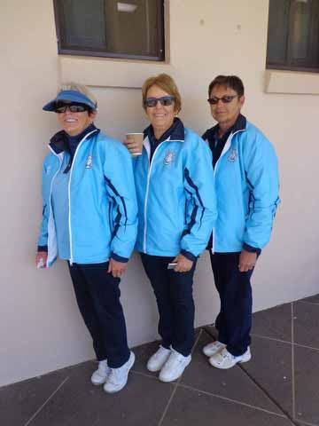 The Golfie ladies bowls team of Joy  Josephson, Glenda Peebles and Marlene Wynd collected the 9th place prize at the Black Opal Tournament. ▪ Contributed