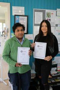 Dr Indra Karalasingham's general practice recently received its Australian General Practice Accreditation renewal. Dr Indra is pictured with practice receptionist Georgia Wilson.