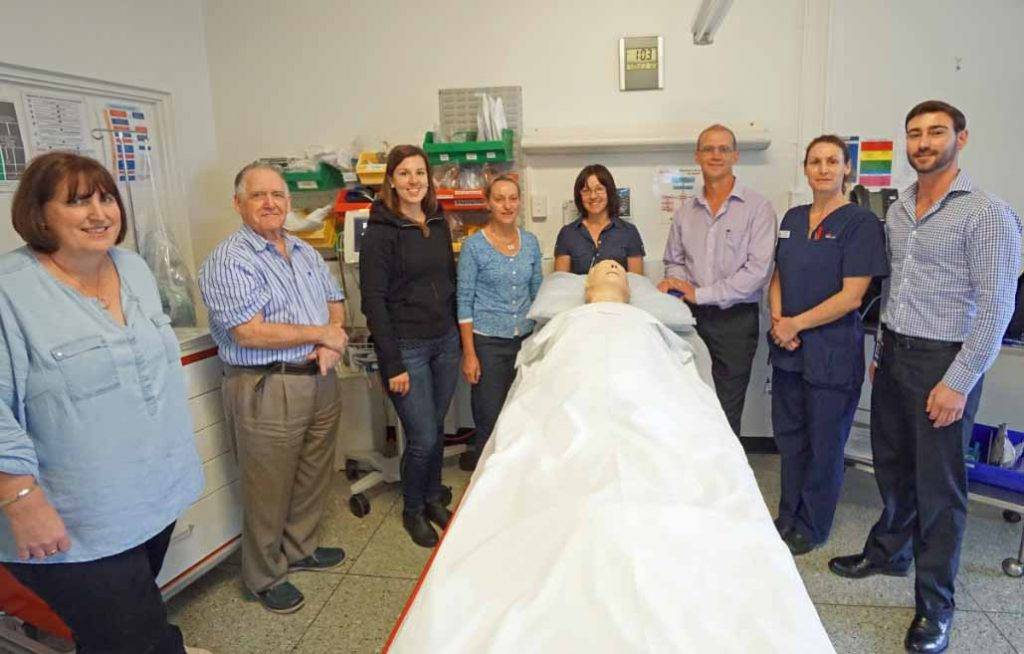 Dr Lord Cowell from Dubbo Hospital visited Cobar Hospital earlier this month as a part of the Emergency Medicine Education and Training (EMET) program for rural and  regional health services. ▪ Photo contributed
