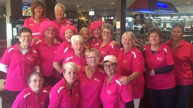 This group of lady golfers dressed up in pink on Sunday to participate in a Pink Day for breast cancer awareness. ▪ Photo contributed