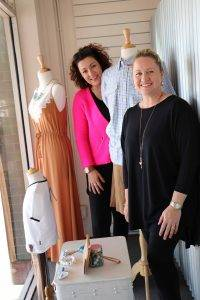 Carol Bagaric from AUSVM was in Cobar last Wednesday helping local businesses to create eye-catching displays of their  merchandise. Carol is pictured with Nara Roche putting the final touches on the  window at Nara's Kidz Boutique.