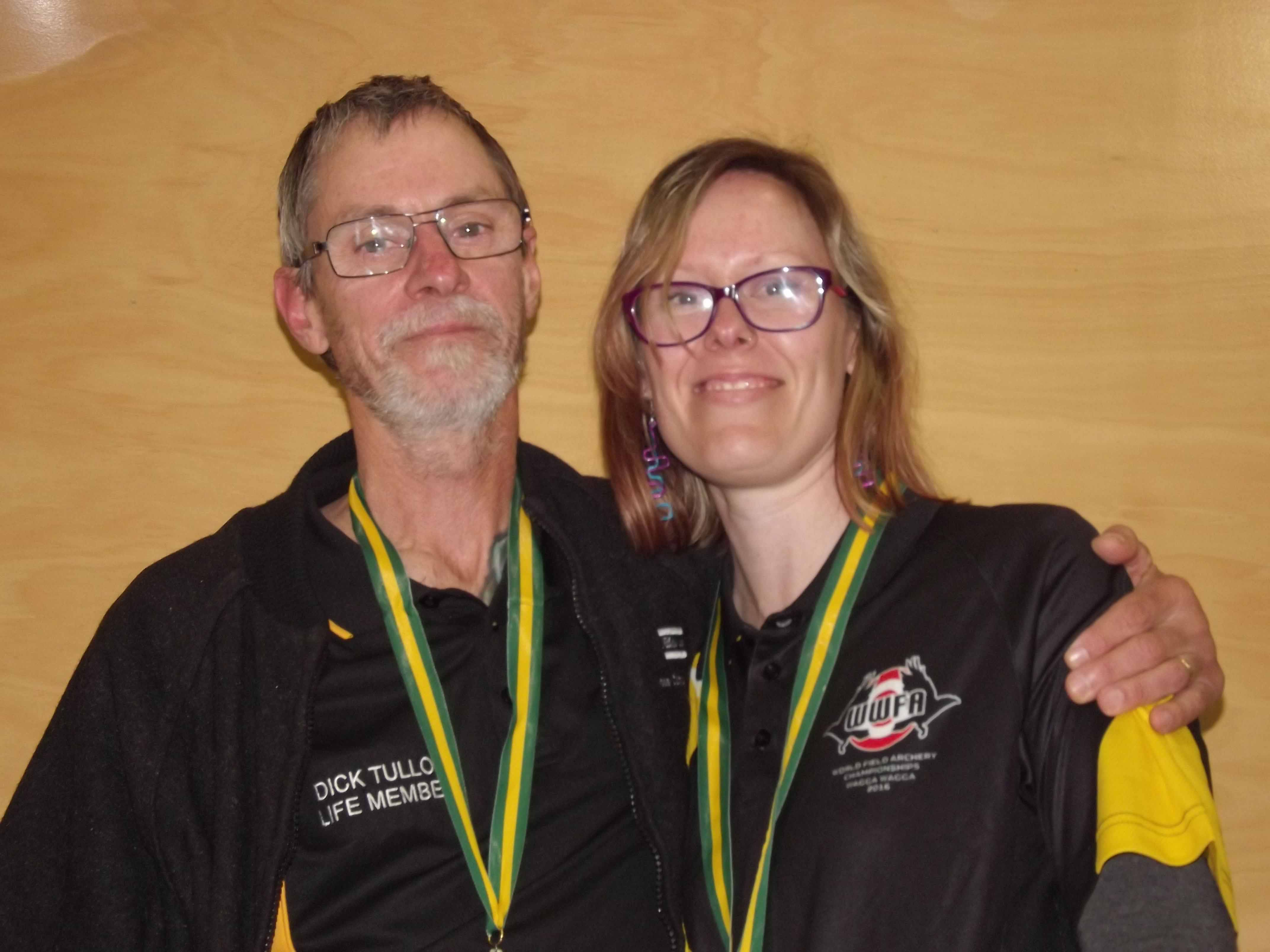 Dick Tulloh and daughter Bobbie recently competed at the World Field Archery  Championships in Wagga Wagga with both bringing home silver medals in their  respective events.  Photo contributed
