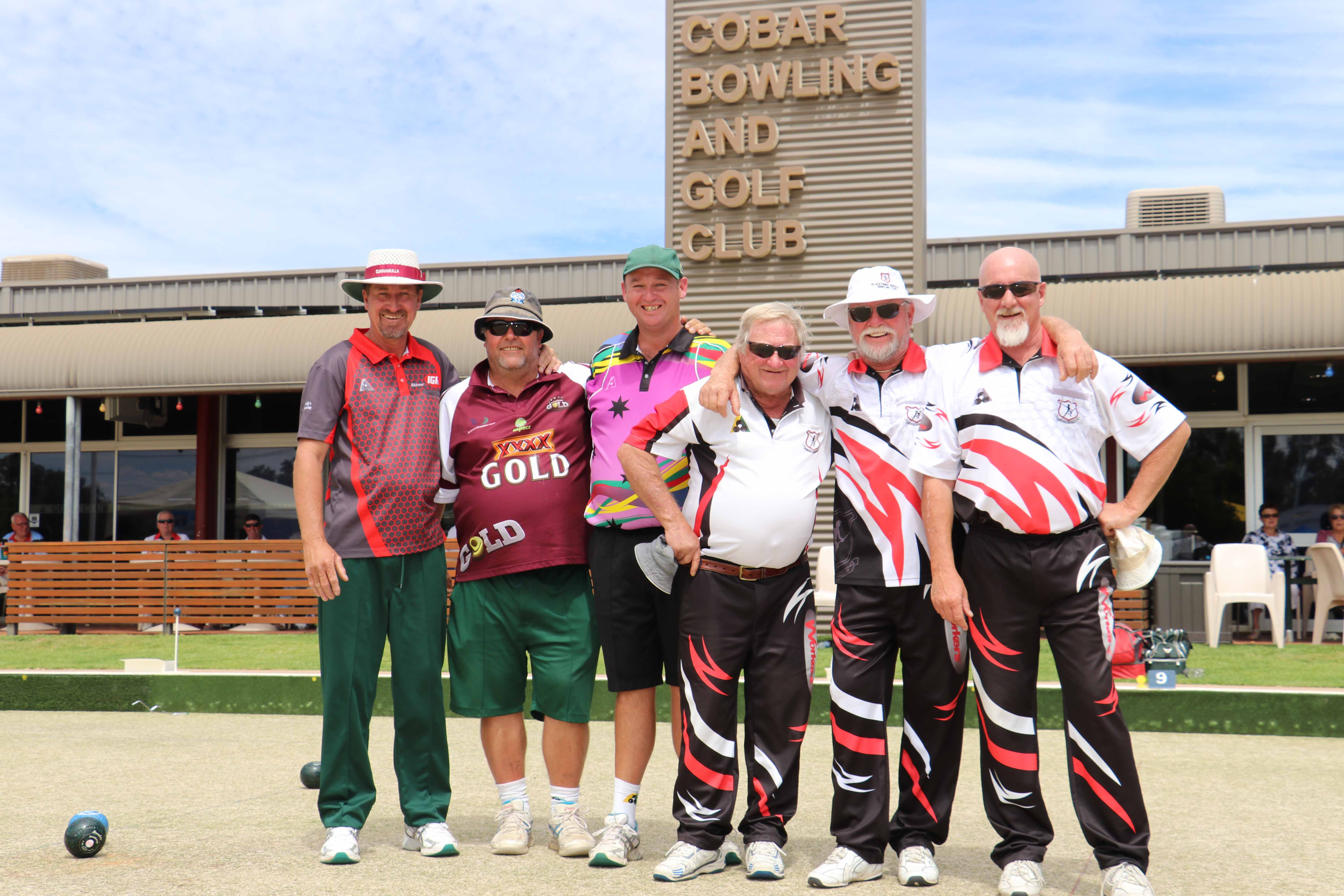Finalists in the Golfie's Triples Bowls tournament on Sunday were they Cunnamulla team of Brett Ferguson, John Mills and Rick Brain and the Blacktown team of Ziggy  Palka, Rod Bartley and Peter Embelton. Blacktown finished as the overall winners.