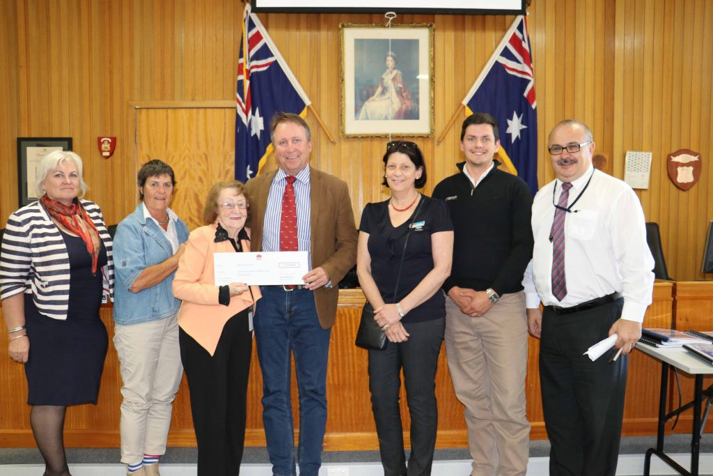 State member for Barwon Kevin Humphries was in Cobar last Wednesday to deliver a $7.75million cheque to Cobar Shire Council. The grant funding will go towards the  replacement of the Cobar Water Treatment Plant. Mr Humphries is pictured with Cr  Janine Lea-Barrett, Cr Julie Payne, Mayor Lilliane Brady, Cr Tracey Kings, Cr Chris Lehmann and council's general manager Peter Vlatko.