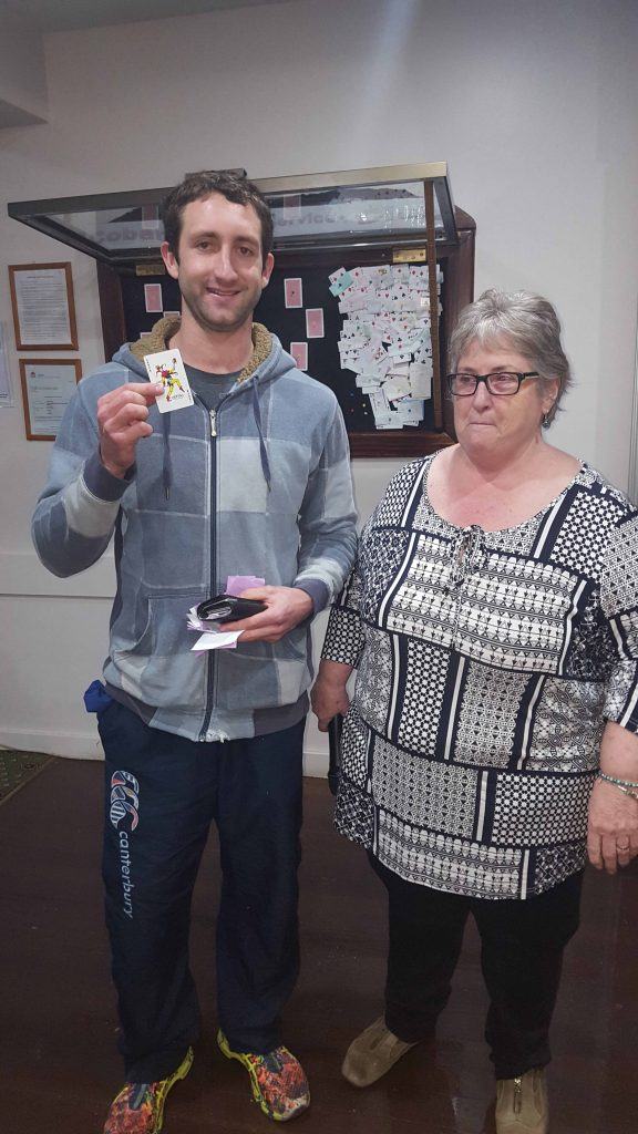 Just days before his wedding Corin Ah-See was lucky enough to pick the Joker at the Cobar Memorial Services Club's Joker Draw competition last Thursday to win  himself $20,500. Corin is pictured above with club secretary/manager Linda Carter.