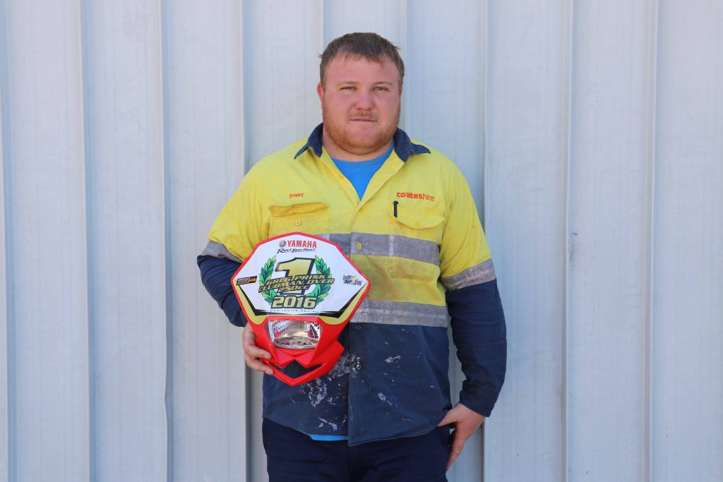 Cobar Auto Club rider Greg Prisk won the 2016 NSW Offroad Enduro State Series Clubman Over 250cc Class .