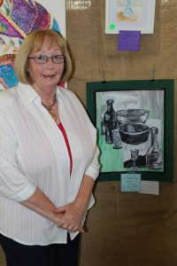 Bev Anderson was he winner of the Still Life Painting category in this year's  Festival Of The Miner's Ghost Arts Council Exhibition.