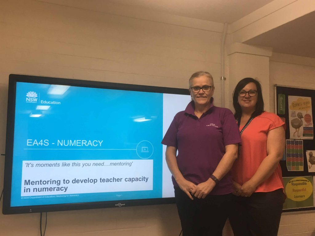 Cobar Public School teachers Cheryl Lee and Simone Knight recently represented the school at the state conference speaking about the school's excellent results in numeracy.  Photo contributed