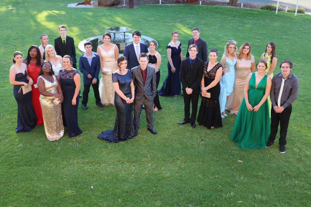 The Cobar High School Year 12 Class of 2016 looked sensational in their formal attire last Thursday night when they reunited for their final official school function, a farewell dinner at the Cobar Bowling & Golf Club. Pictured are the class members: Molly Hogan,  Joana Awuku, Jennifer Awuku, Kaitlyn Raffaele, Billie Hall, Josh Burley, Stephanie Bastian, Taylor Hooker, Zara Ralph, Annette  Hudson, Bryan Mitchell, Robert Good, Kaitlyn Byrne, Stephanie Cartner, Tyler Whittaker-Goodwin, Blake Toomey, Gabriella  Lennon, Brooke Hartman, Madeline Brookman, Niamh Urquhart, Bonnie-Ann Martin and Kody Martin during their photo shoot on the lawns of the Great Cobar Heritage Centre. While some of the students have already worked out where their futures will take them next year and beyond, many, particularly those planning to go on to further study, are still nervously waiting for their HSC results which won't be available until the middle of next month.