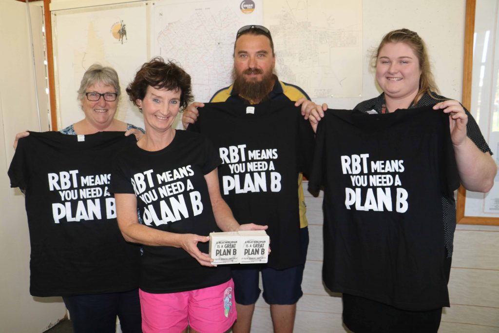 Members of the Cobar Liquor Accord, Linda Carter (Cobar Services Club), Cindy Bryan (Empire Hotel), Dave Portelli (Great Western Hotel) and Demi Smith (Cobar Bowling & Golf Club) will be encouraging patrons to ensure they have a Plan B.