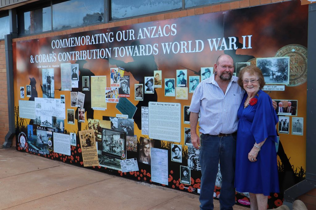 Cobar Memorial Services Club president Gary Middleton and mayor Lilliane Brady  officially unveiled the second stage of the club's commemorative wall on Friday night with the new section focusing on local World War II contributions.